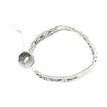 Buy One Button Nancy Crystal Bead Friendship Bracelet, Grey Online at johnlewis.com