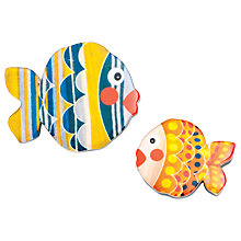 Buy One Button Fish Resin Brooch Set, Multi Online at johnlewis.com