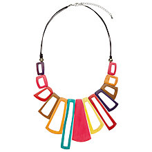 Buy One Button Open Cut Shapes Necklace, Multi Online at johnlewis.com