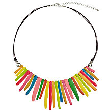 Buy One Button Wood Finger Collar Necklace, Multi Online at johnlewis.com