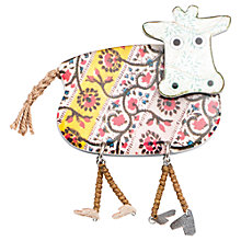 Buy One Button Cow Resin Brooch, Multi Online at johnlewis.com