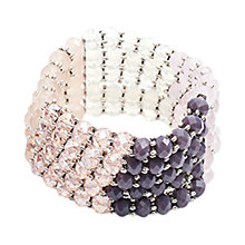 Buy One Button 5 Row Tonal Glass Bead Cuff Online at johnlewis.com