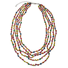 Buy One Button Wood Disc and Sequin Necklace, Multi Online at johnlewis.com