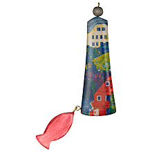 Buy One Button Lighthouse Fish Brooch, Blue/Red Online at johnlewis.com