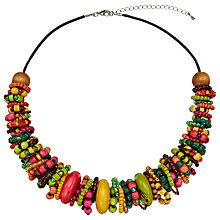 Buy One Button Bead Wrap Ring Necklace, Multi Online at johnlewis.com