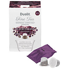Buy Dualit Blackcurrant Infusion Fine Tea Capsules Online at johnlewis.com