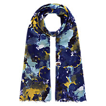 Buy Hobbs Water-floral Scarf, Blue Multi Online at johnlewis.com