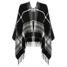 Buy Oasis Check Wrap, Black/White Online at johnlewis.com