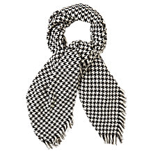 Buy Oasis Dogtooth Scarf, Black/White Online at johnlewis.com