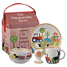 Buy Little Rhymes Old Macdonard Farm Breakfast Set, 4 Piece, White/Multi Online at johnlewis.com