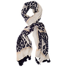 Buy Chesca Printed Oblo Scarf, Navy Online at johnlewis.com