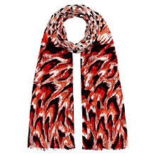 Buy Hobbs Evie Feather Scarf, Grenadine Multi Online at johnlewis.com