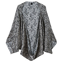 Buy Jigsaw Baroque Fern Cocoon Cape, Black Online at johnlewis.com