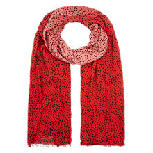 Buy Hobbs Ombre Spot Scarf, Red Online at johnlewis.com