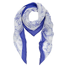 Buy Hobbs Lily Valley Scarf, Blue Online at johnlewis.com