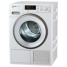 Buy Miele TMB 640 WP Heat Pump Tumble Dryer, 8kg Load, A++ Energy Rating, White Online at johnlewis.com
