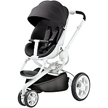 Buy Quinny Black Irony Moodd Pushchair with Free Car Seat Online at johnlewis.com