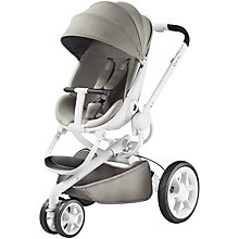 Buy Quinny Grey Gravel Moodd Pushchair with Free Car Seat Online at johnlewis.com