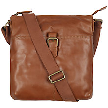 Buy Fat Face Leather Across Body Buckle Bag Online at johnlewis.com