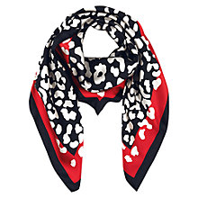 Buy Hobbs Leopard Scarf, Multi Online at johnlewis.com