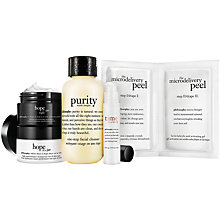 Buy Philosophy Cleanse, Peel, Treat Kit Online at johnlewis.com