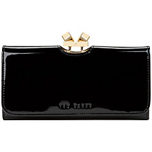 Buy Ted Baker Muryal Frame Leather Matinee Purse, Black Online at johnlewis.com