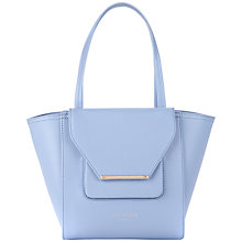 Buy Ted Baker Allira Crosshatch Small Shopper Handbag, Blue Online at johnlewis.com