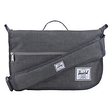 Buy Herschel Supply Co. Pop Quiz Messenger Bag, Charcoal Online at johnlewis.com