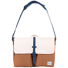 Buy Herschel Supply Co. Columbia Messenger Bag, Caramel/Natural Online at johnlewis.com