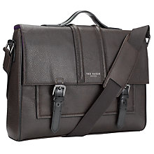 Buy Ted Baker Merando Tonal Strap Messenger Bag, Brown/Black Online at johnlewis.com