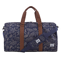Buy Herschel Supply Co. Ravine Kingston Print Holdall, Blue/Tan Online at johnlewis.com