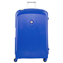 Buy Delsey Belfort 4-Wheel 76cm Large Suitcase, Blue Online at johnlewis.com