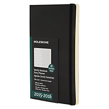 Buy Moleskine Large 18 Month Diary, Black Online at johnlewis.com