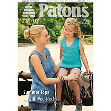 Buy Patons Knitted Summer Top Knitting Pattern Online at johnlewis.com