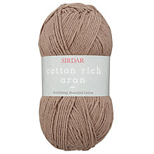 Buy Sirdar Cotton Rich Aran Yarn, 100g Online at johnlewis.com