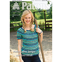 Buy Patons DK Ladies' Lace Jumper Knitting Pattern Online at johnlewis.com
