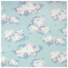 Buy Cath Kidston Cloud Print Coated Fabric, Pale Blue Online at johnlewis.com