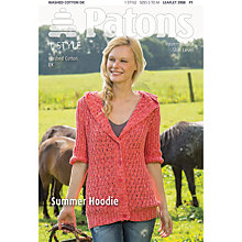 Buy Patons DK Summer Hoodie Knitting Pattern Online at johnlewis.com