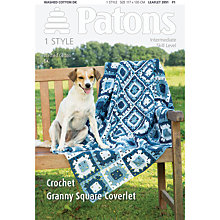 Buy Patons DK Crochet Granny Square Coverlet Knitting Pattern Online at johnlewis.com