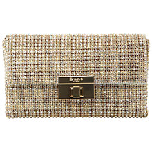 Buy Dune Elizabeth Metallic Clutch Bag Online at johnlewis.com