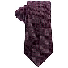 Buy Eton Semi Plain Silk Tie, Red/Violet Online at johnlewis.com