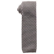 Buy Eton Cotton Knitted Tie, Grey Online at johnlewis.com