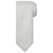 Buy John Lewis Made in Italy Silk Stripe Tie, Light Grey Online at johnlewis.com