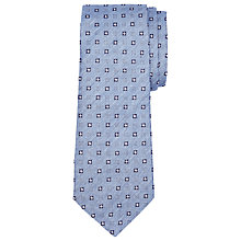 Buy John Lewis Square Pattern Silk Tie, Light Blue Online at johnlewis.com