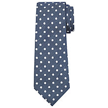 Buy John Lewis Large Spot Silk Tie Online at johnlewis.com