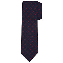 Buy John Lewis Square Check Silk Tie, Navy Online at johnlewis.com