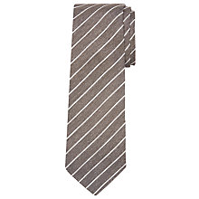 Buy John Lewis Made in Italy Thin Stripe Silk Tie Online at johnlewis.com