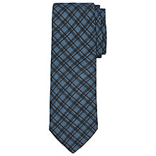 Buy John Lewis Made In Italy Herringbone Wool Tie, Blue/Brown Online at johnlewis.com