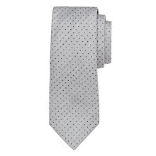 Buy John Lewis Made In Italy Mini Dot Tie, Light Grey Online at johnlewis.com