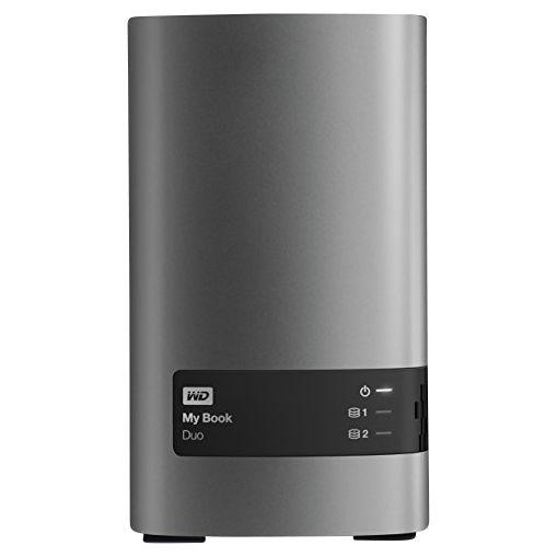 WD WD My Book Duo Desktop Hard Drive, USB 3.0, 8TB, Black